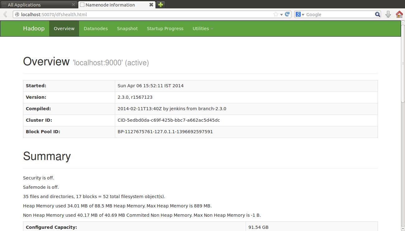 HDFS Web UI 1